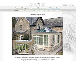 Screenshot of Atrium Conservatories [click to enlarge]