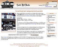 Screenshot of Castle Hill Books [click to enlarge]