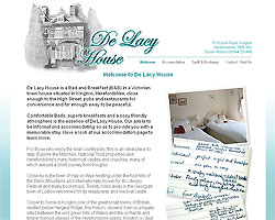 Screenshot of De Lacy House B&B [click to enlarge]