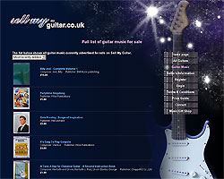 Screenshot of Sell My Guitar [click to enlarge]